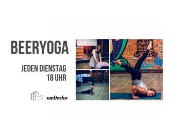 Beeryoga – Eine Kombination aus Yoga & Biertrinken